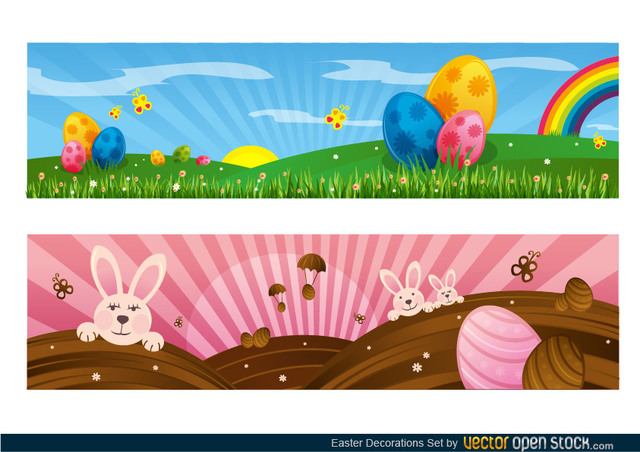 Free Easter Decoration Set