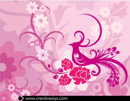 Free Creative Lovely Floral Background
