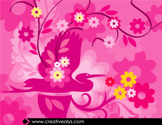 Free Beautiful Pinkish Flourish Artwork