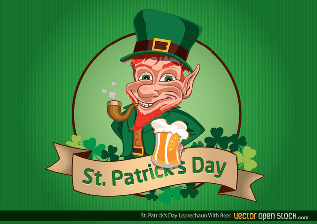 Free St Patrick's Day Leprechaun with Beer