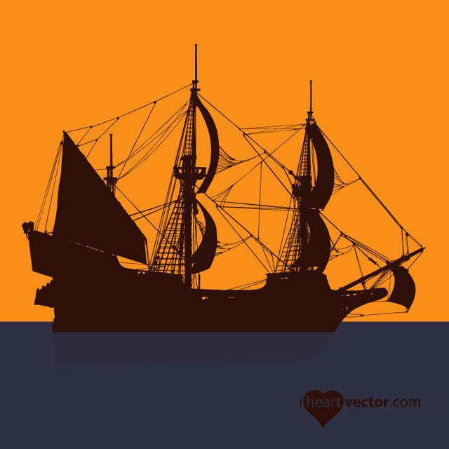 Free Silhouette Pirate Ship