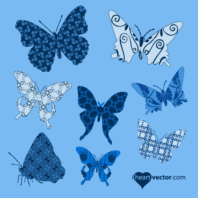 Free Butterfly Pack with Pattern Wings