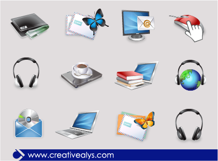 Free Glossy 3D Web Icon Pack