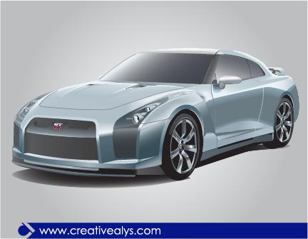 Free Nissan GTR Realistic Luxury Car