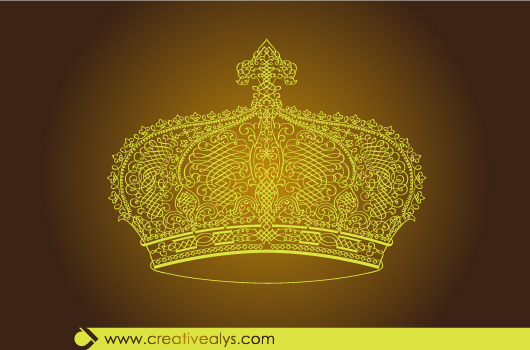 Free Creative Calligraphic Golden Crown