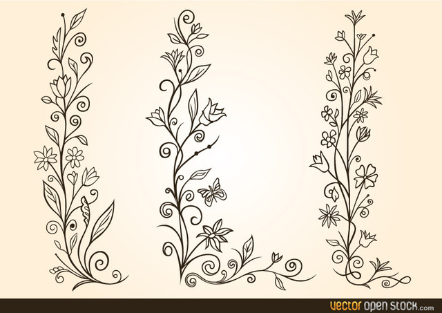 Free Ornamental Flower Design