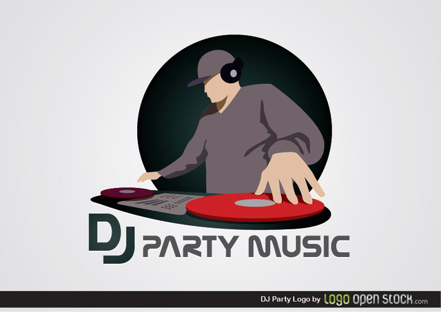 Free DJ Party Logo