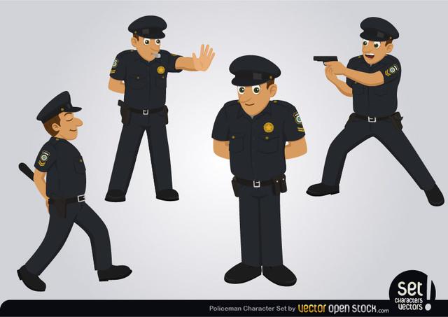 Free Policeman Character Set