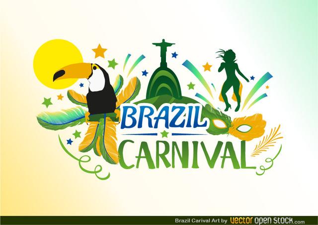 Free Vectors: Brazil Carnival Design | Vector Open Stock