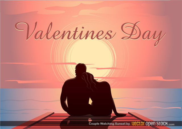 Free Valentine's Sunset Dock