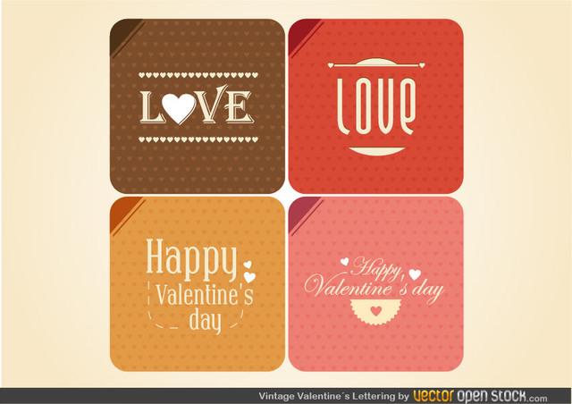 Free Vintage Valentine's Lettering