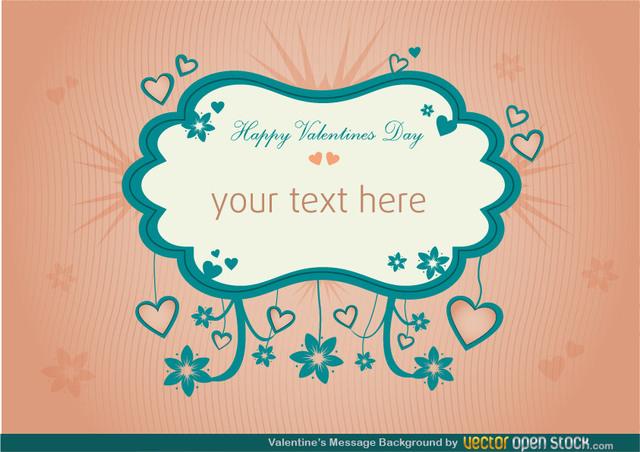 Free Valentines Message Background