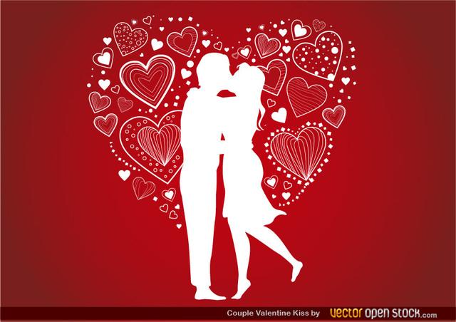 Free Couple Valentine's Kiss