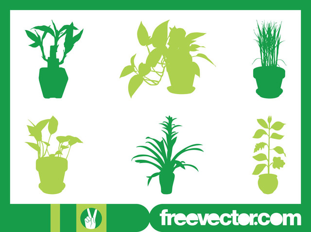 Free Interior House Plant Set Silhouette