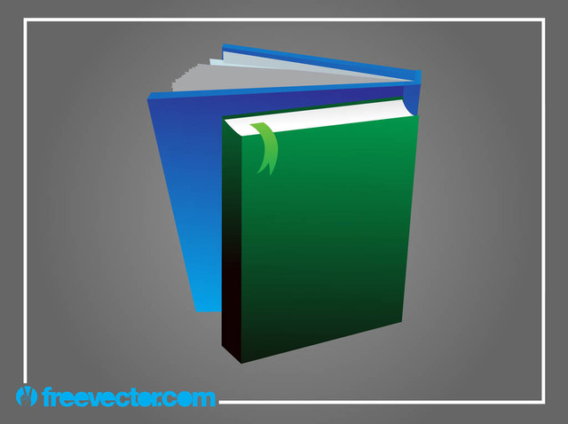 Free 3D Books with Blank Cover