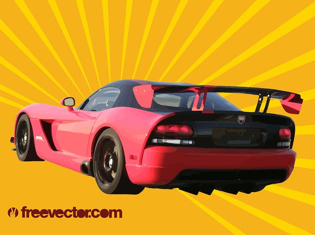 Free Glossy Dodge Viper Sports Car