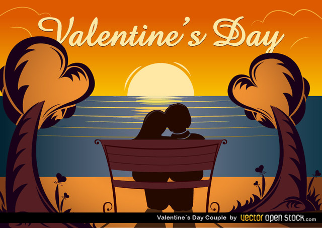 Free Vectors: Valentine's Day Couple | Vector Open Stock