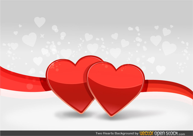 Free Two Hearts Background