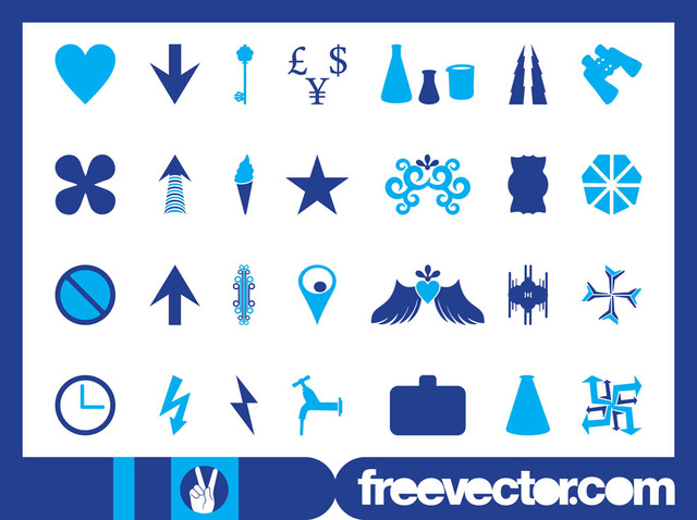 Free Blue Icon & Symbol Pack