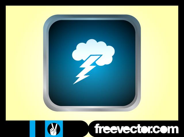 Free Glossy Grey Rim Thunderstorm Icon