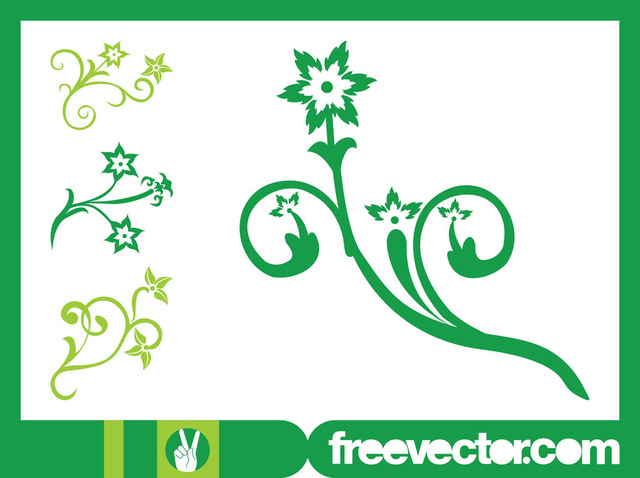 Free Swirly Flowers with Blossoms and Petals