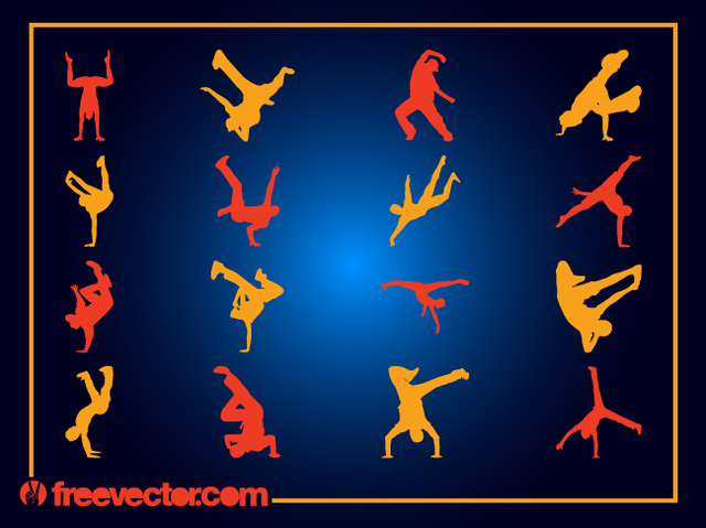 Free Boys Break Dancer Pack Silhouette