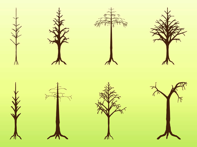 Free Dead Crooked Tree Pack Silhouette