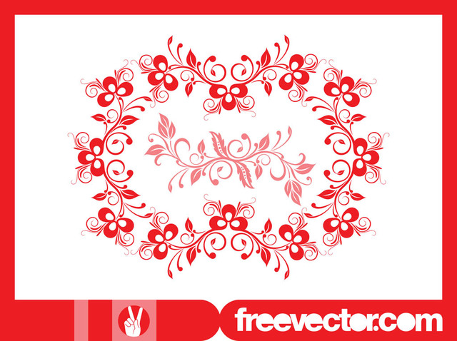 Free Decorative Wreath with Blooming Flowers