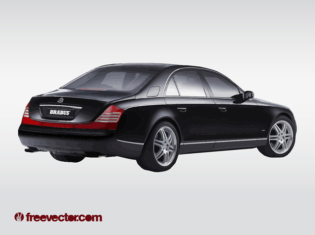 Free Luxury Car Maybach Limo Black