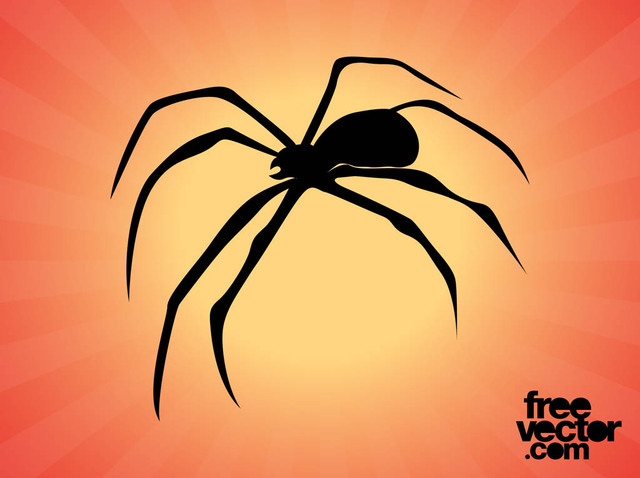 Free Spider Silhouette with Curvy Legs