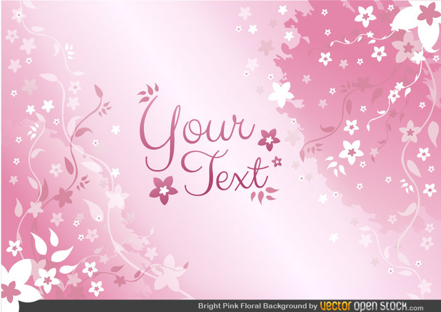 Free Pink Floral Background