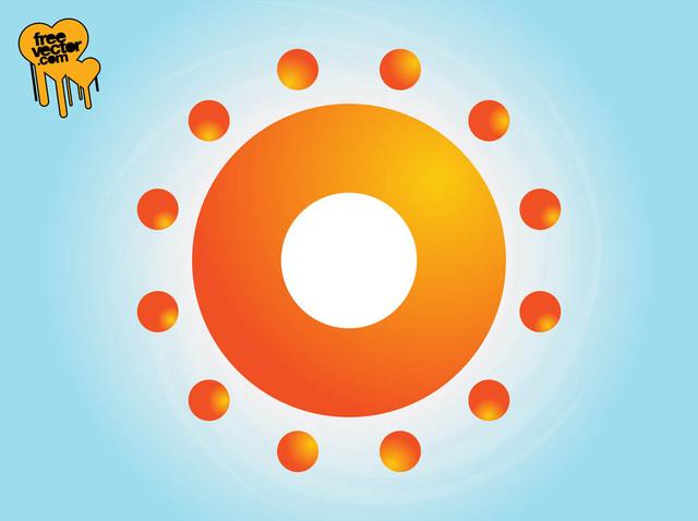 Free Abstract Bright Sun Symbol