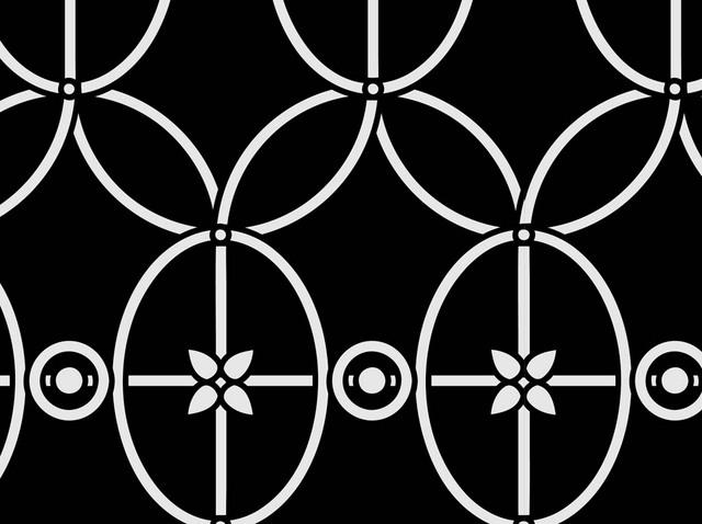 Free Vintage Curved Line & Circle Pattern