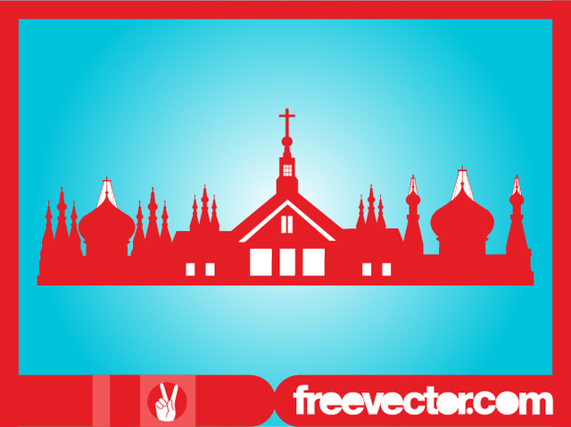 Free Orthodox Religion Buildings Silhouette
