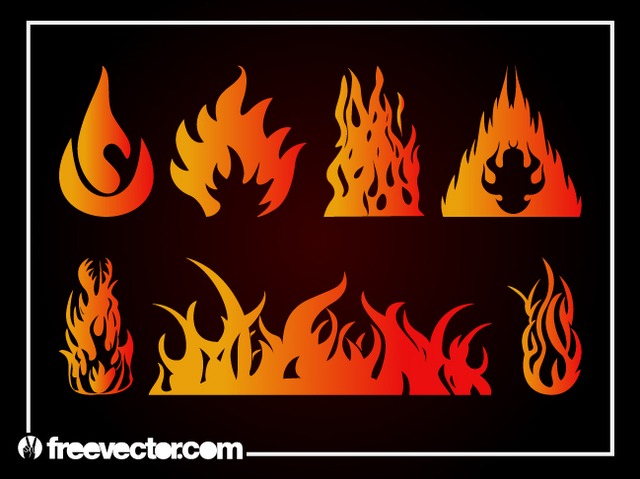 Free Gradient Abstract Flame Pack