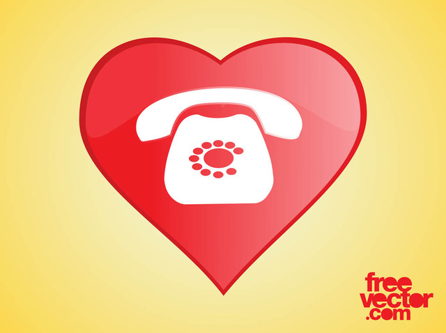 Free Heart Phone Icon