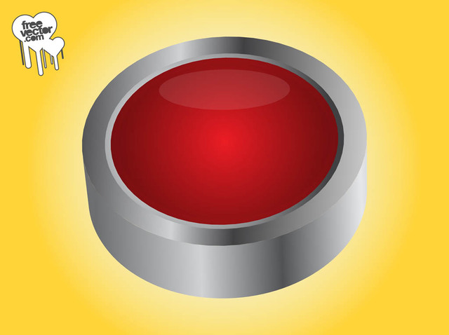 Free Grey Rim Red 3D Button