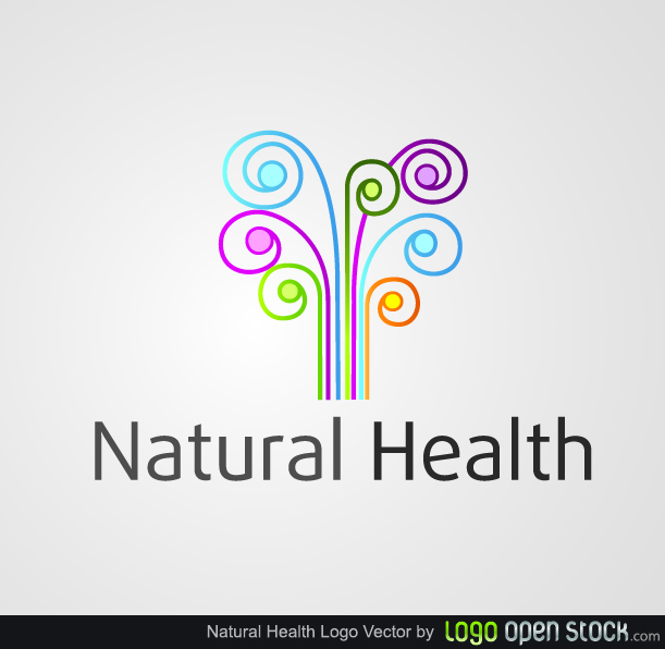 Free Natural Health Colorful Swirls