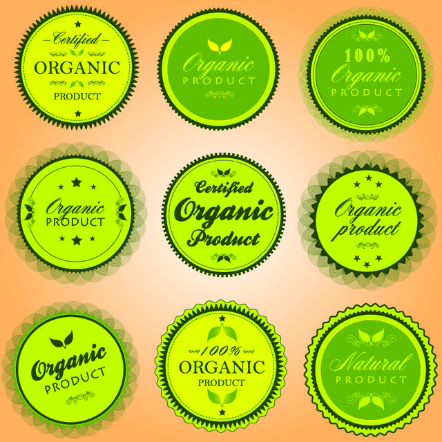Free Organic Elliptical Product Sticker Pack