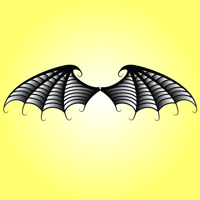 Free Black & White Bat Wings