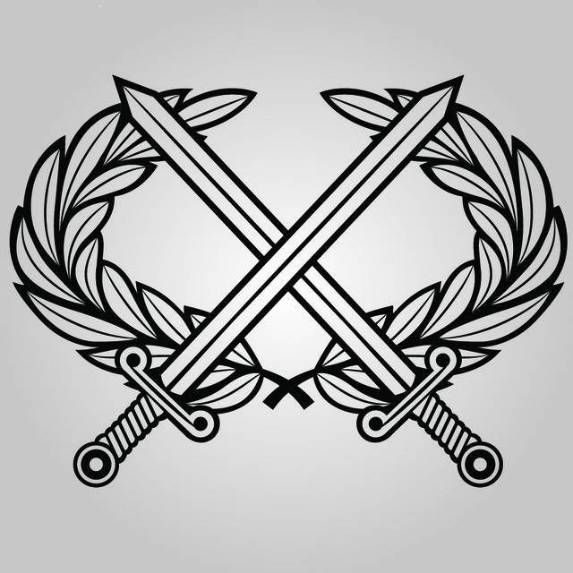 Free Line Art Military Coat of Arms