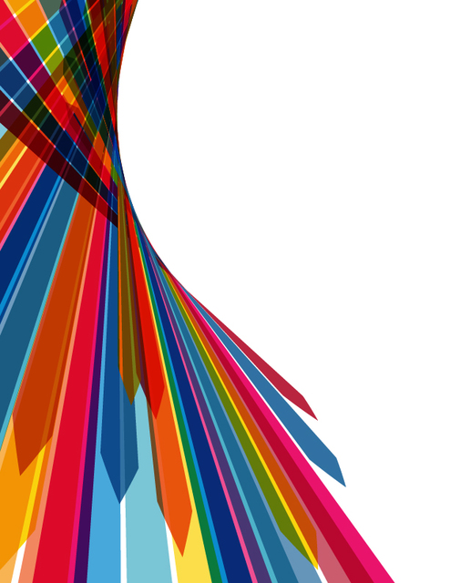 Free Abstract Multicolor Stripy Arrow Background