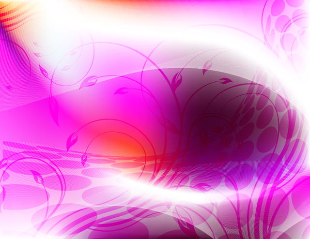 Free Abstract Curvy Floral Pink Background