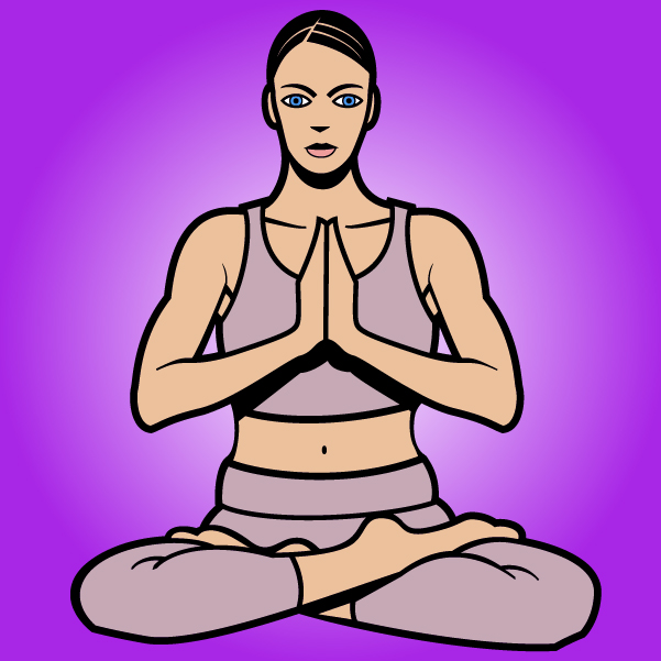 Free Women Cartoon Yoga Pose