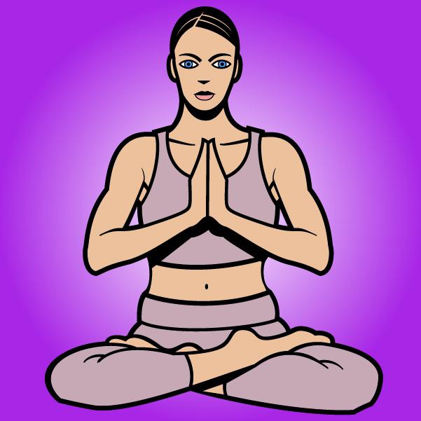 Free Vectors: Women Cartoon Yoga Pose | VECTOR PORTAL