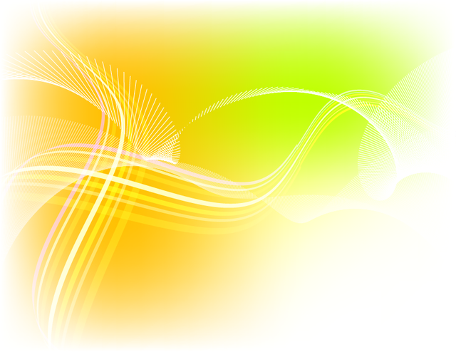 Free Wavy Spiral Line Yellow Background