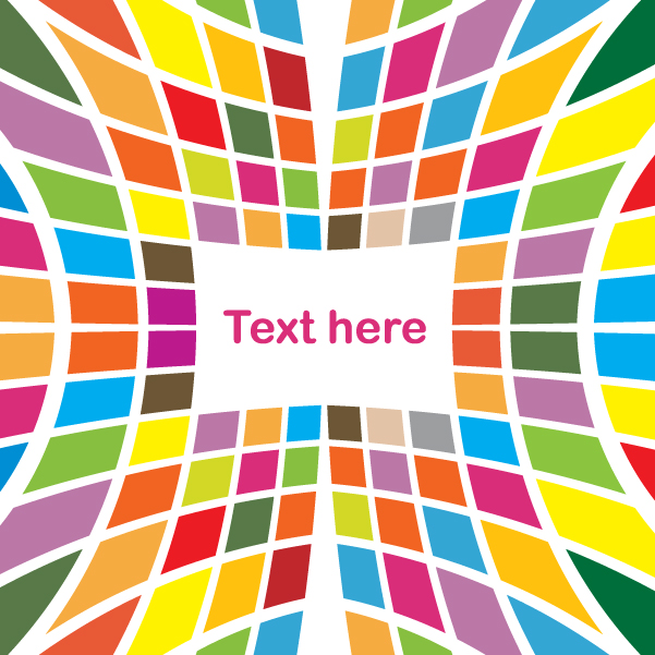 Free Colored Tiles Abstract Stretched Background