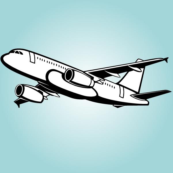 Free Black & White Big Passenger Airbus