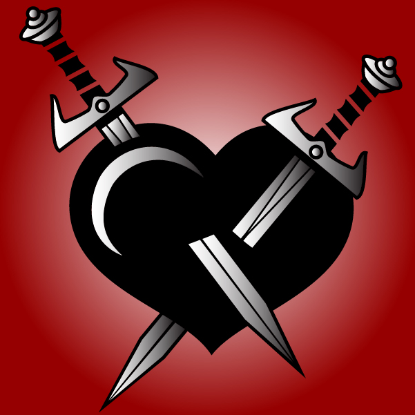 Free Broken Heart Stabbed with Swards