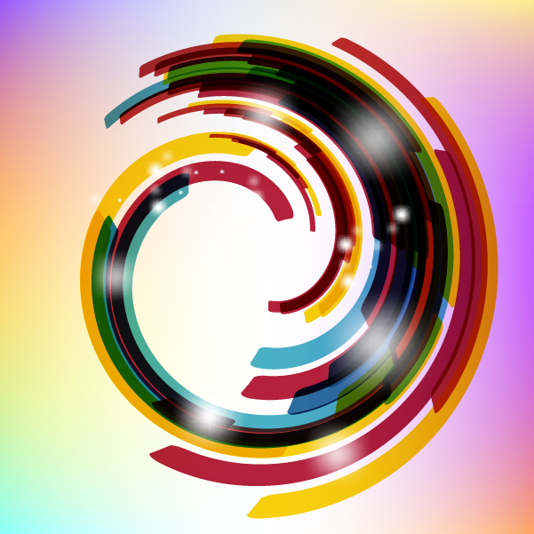 Free Colorful Rounded Stripy Warp Background